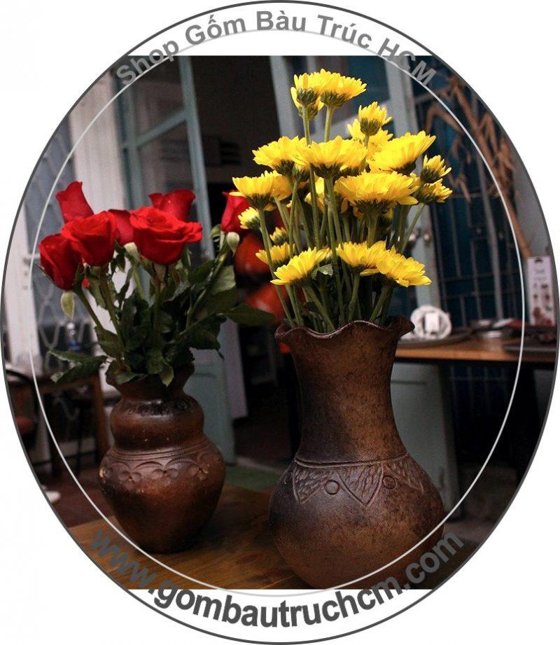 Bình,lọ cắm hoa gốm Bàu Trúc
