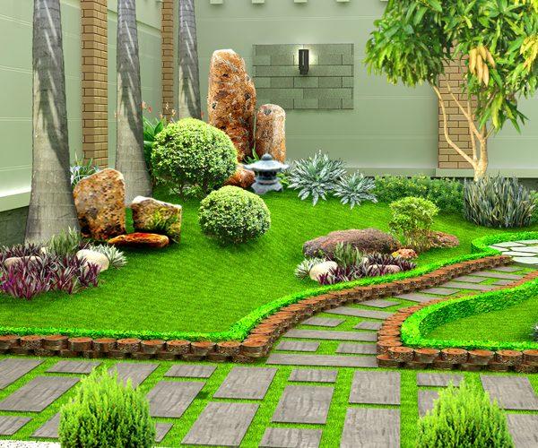 Phù điêu tượng gốm sân vườn