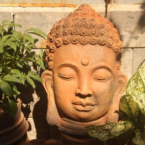 Mặt Phật bằng gốm Bàu Trúc