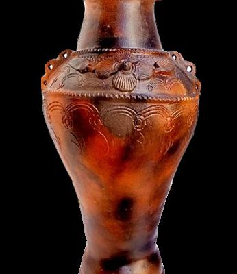 Bình gốm Bàu Trúc miệng phễu cao 58 cm
